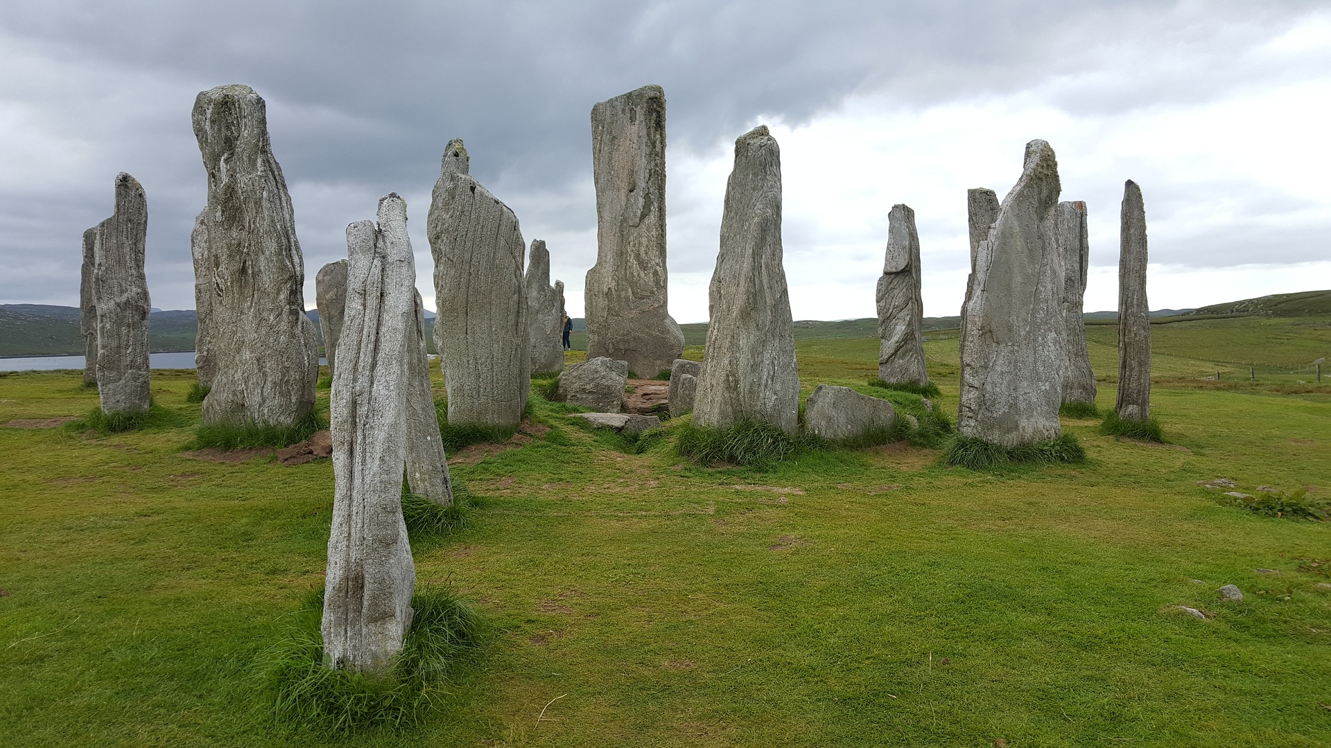 Callanish standing stones on the Isle of Lewis.
