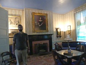 Carnton parlor with guide (Eric) and Carries picture. Photo: Kathleen Walls