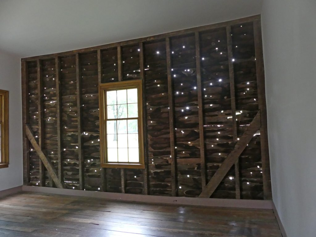 Bullet riddled walls of the Carter House farm office. Photo: Kathleen Walls