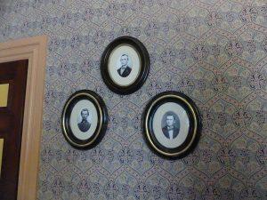 Family photos in the Carter House. Photo: Kathleen Walls