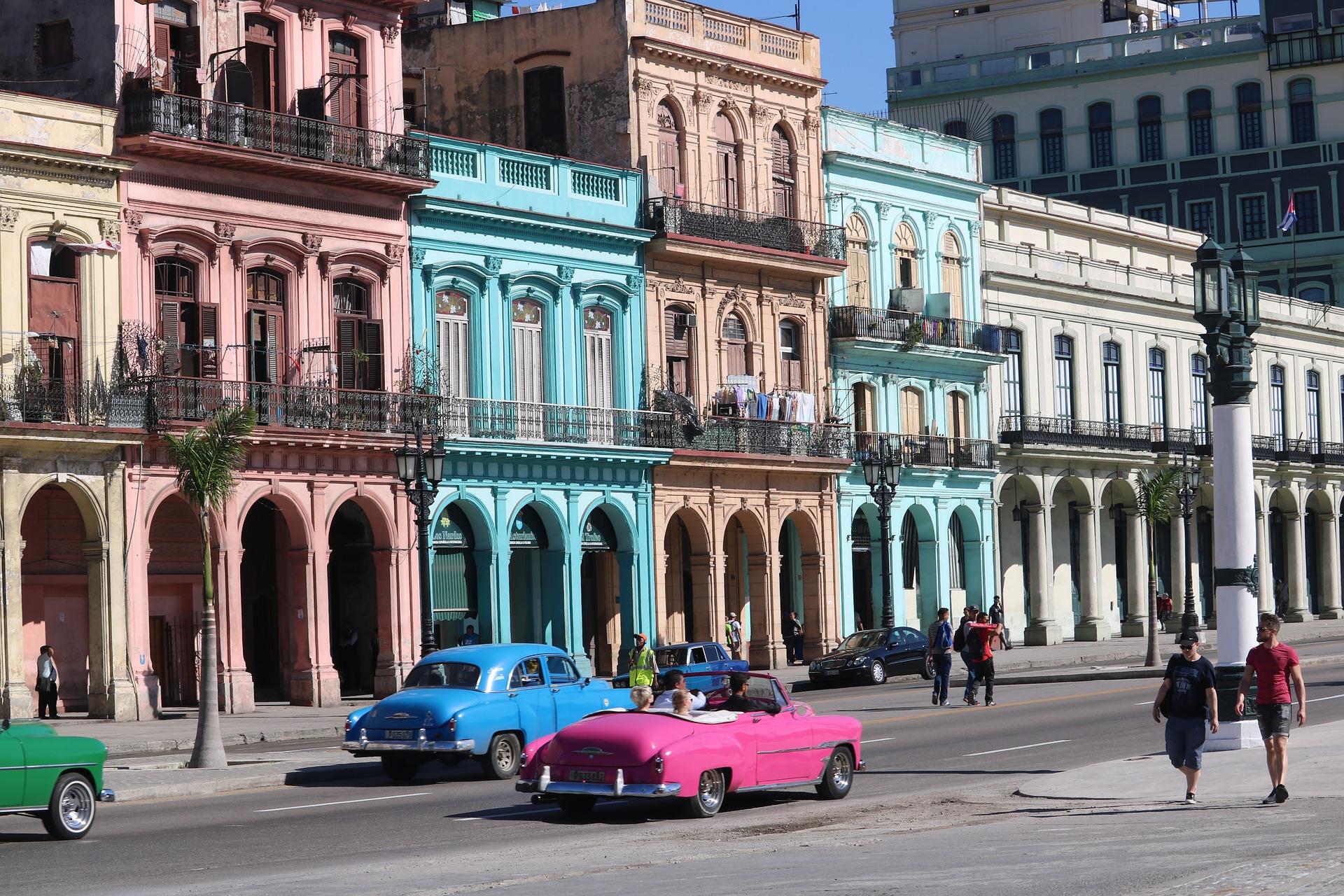 A view of a street in Havana, Cuba.