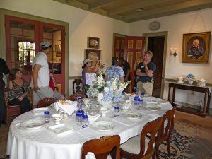 Dining room inside the main house on Laura Plantation. Photo: Kathleen Walls