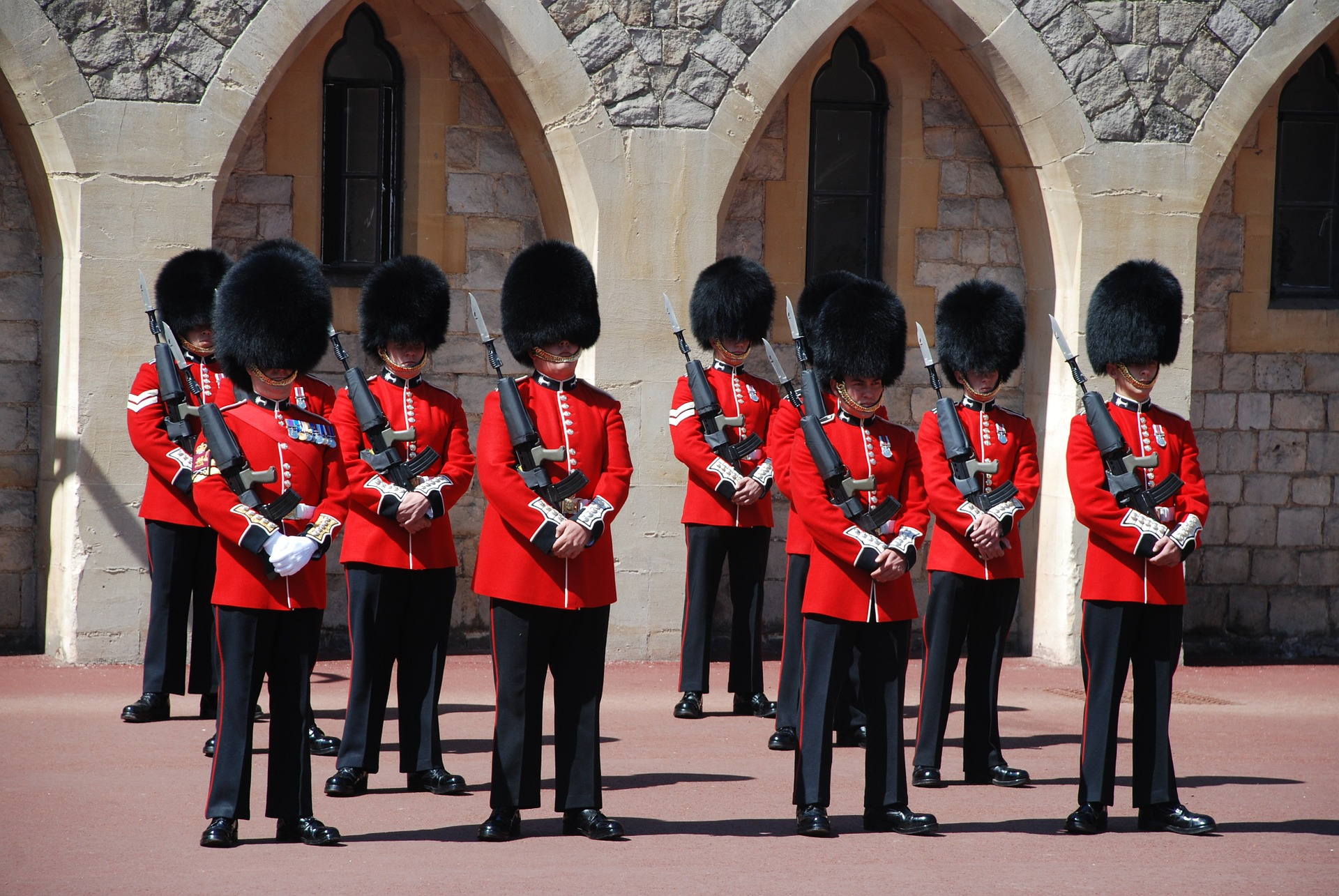 Changing the Guard at Windsor Castle.