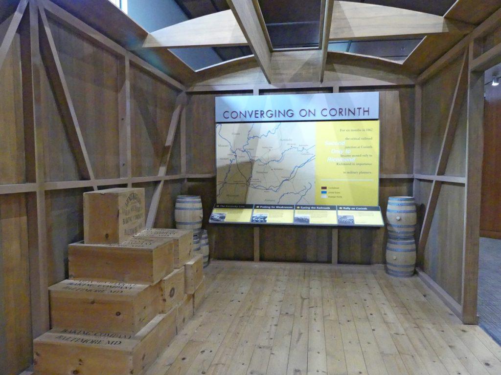 Crossroads Interpretive Center exhibit representing a boxcar. Photo: Kathleen Walls