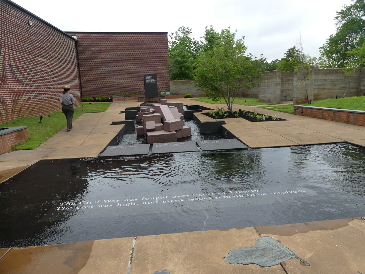 Crossroads Interpretative Center Fountain. Photo Kathleen Walls