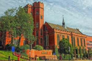 Firth Court, located on the University of Sheffield, is the main administrative centre. This iconic building is also home to the Department for Molecular Biology and Biotechnology and Biomedical Science and Law.