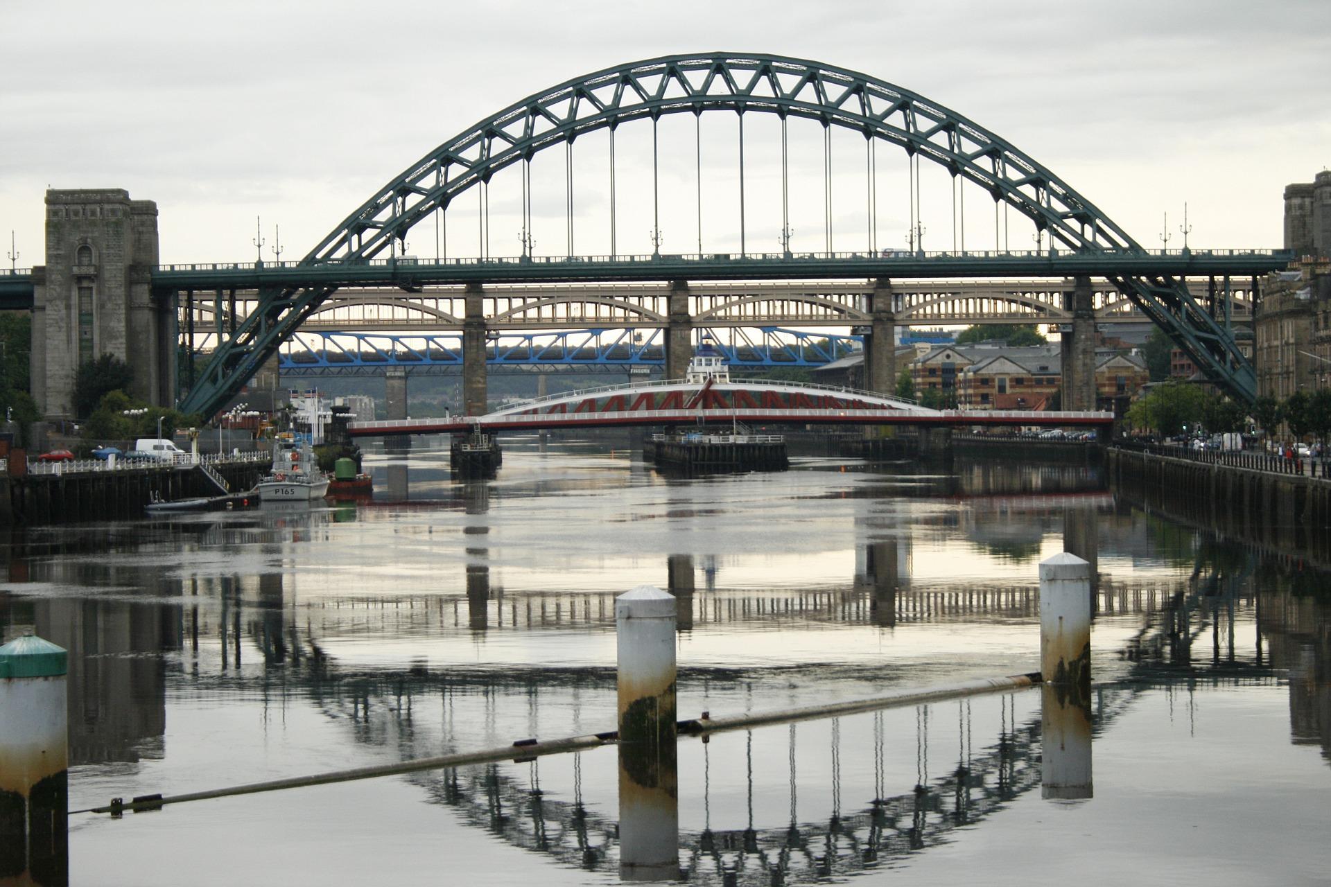 Newcastle-Upon-Tyne Bridge in England.