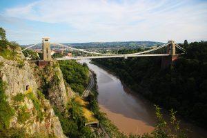Suspension bridge in Bristol, England.