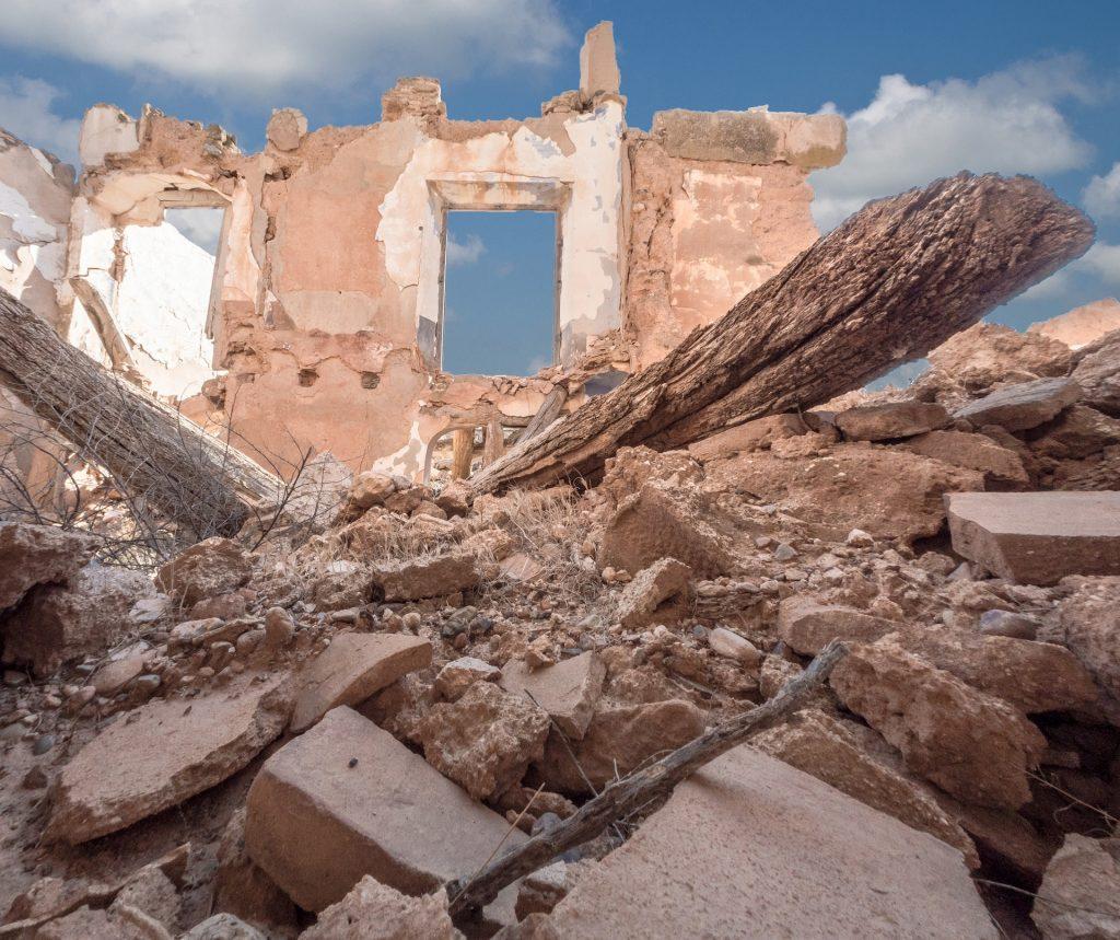 Devastation from war in Syria