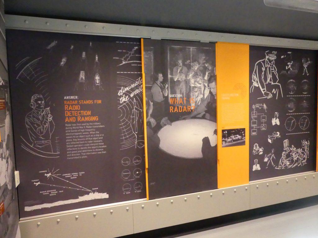The working of radar exhibit. Photo Kathleen Walls
