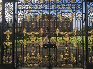 Gold gates to entrance of Kensington Palace