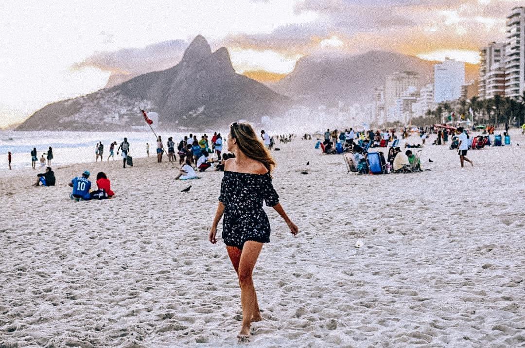 The girl from Ipanema. Author in Rio de Janeiro, Brazil.