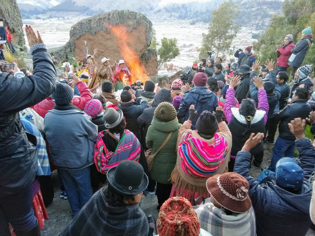 COVER: Sun worshipers welcome the Winter Solstice sunrise with raised hands and open hearts. Photo credit: Renee Alexander
