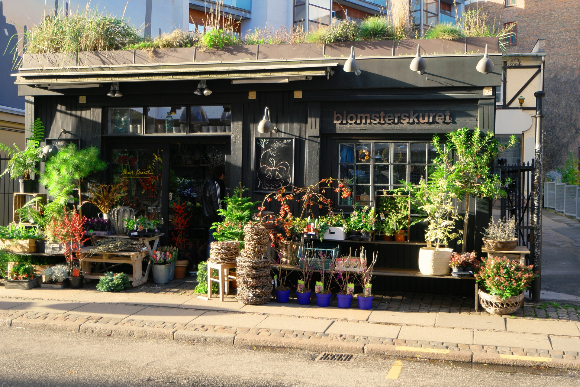 A flower shop in the Vesterbro District in Copenhagen.