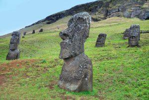 Easter Island stone figures