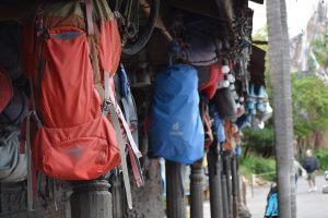 Backpacking gear for mountain climbers on Everest.