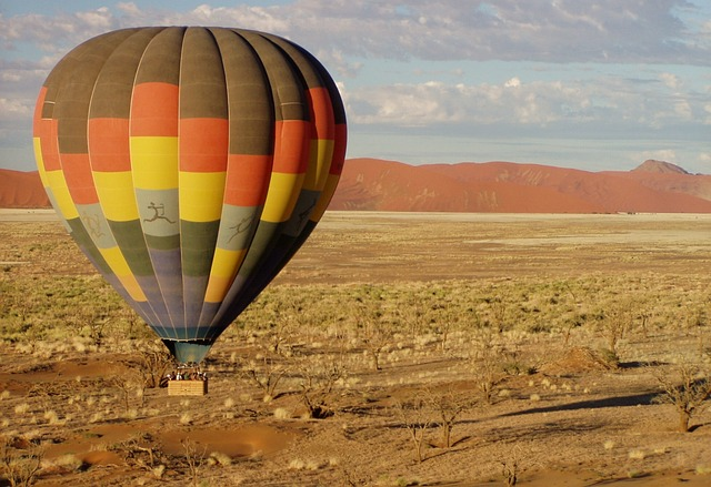 Hot air ballooning over Namibia