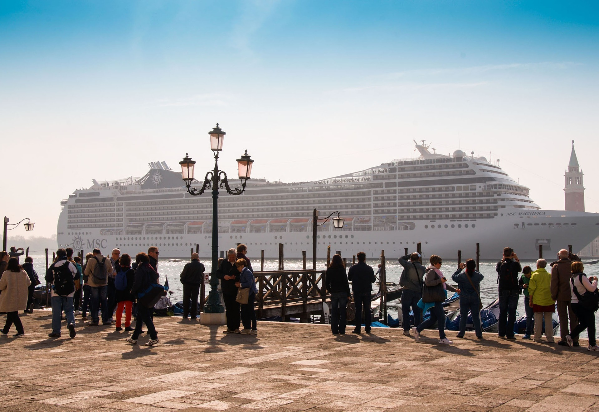 Venice, Italy and large cruise ship