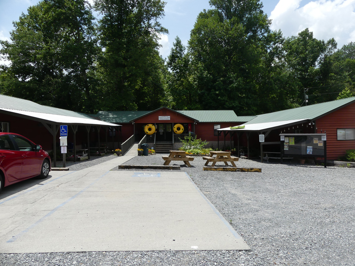 Coosawattee River Tubing headquarters. Photo: Kathleen Walls