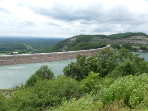Dam at Carters Lake. Photo: Kathleen Walls