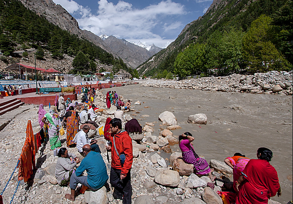 """Gangotri Riverside"" by arigho57 is licensed under CC PDM 1.0"