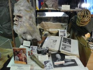 Mask reproduction and material used on a research expedition. Photo: Kathleen Walls