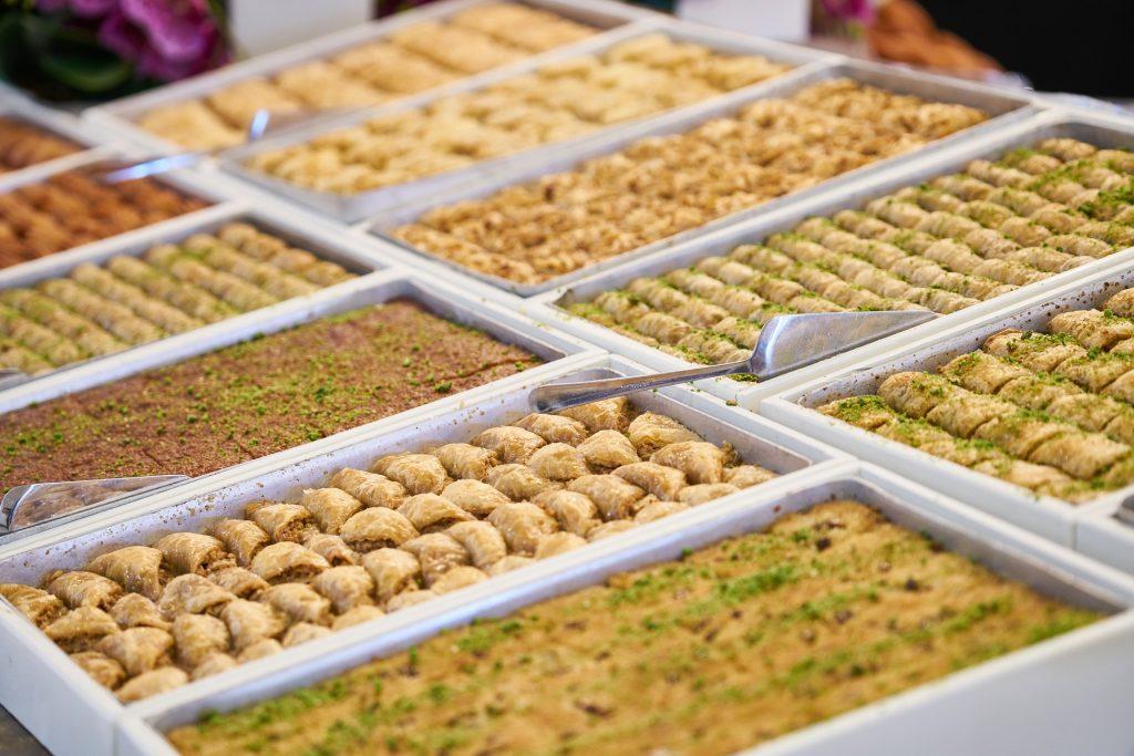 Baklava in Turkey bazaar