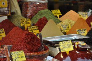 Spices in a Turkish market