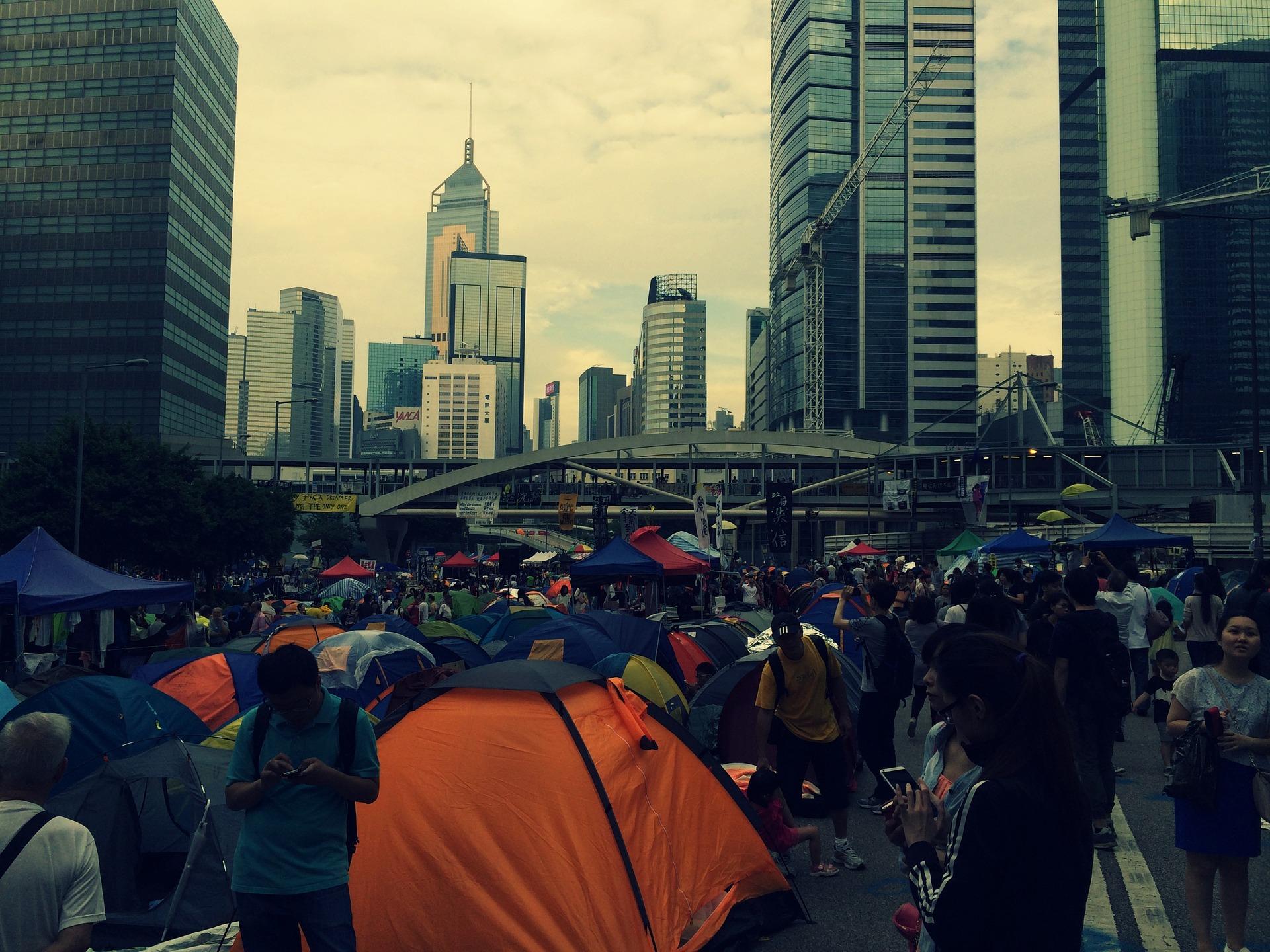 Tent protests in Hong Kong
