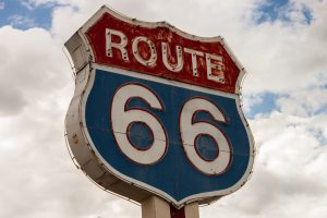 Signage of America's Route 66