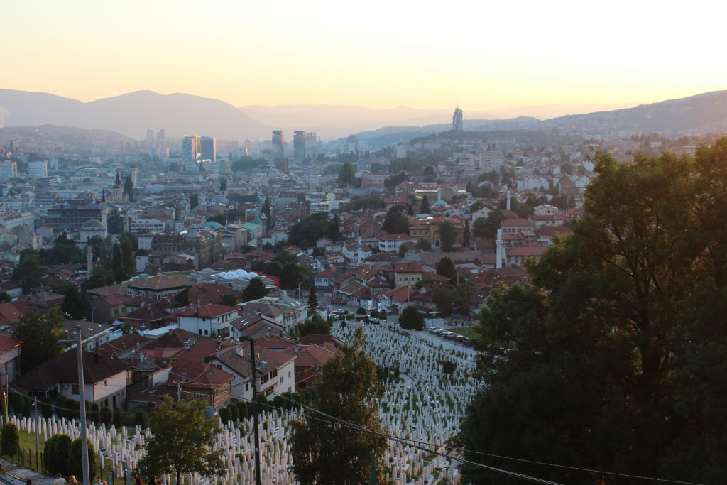 View of Sarajevo. Photo: Tara Tadlock