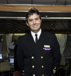 Capt. Herve Parage aboard ProCruises Iceland Ocean Diamond.