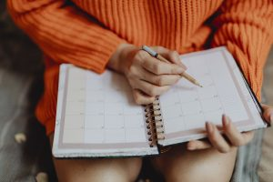 Calendar schedule planning for a digital nomad