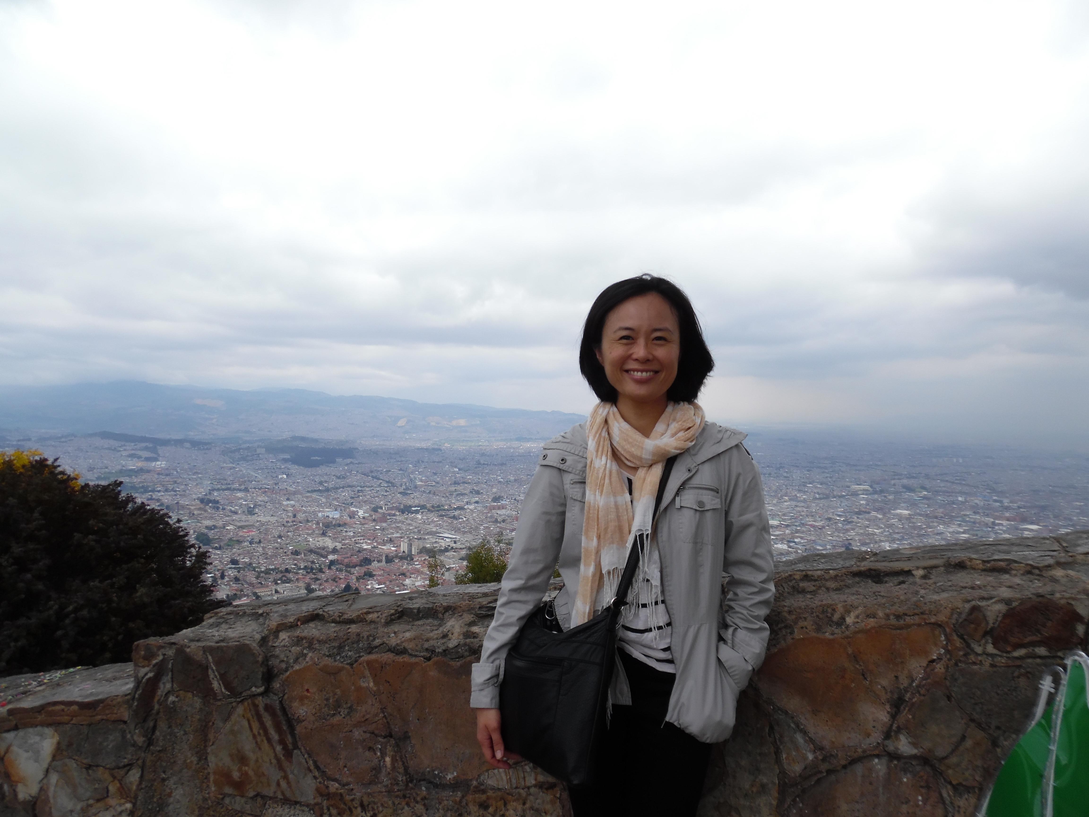 Photo of Grace Fujimoto in Bogota.
