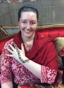 Thomasina showing off her henna during a trip to Dubai. Photo: Thomasina Tafur