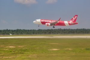 Aircraft landing in Kulala Lumpur, Malaysia