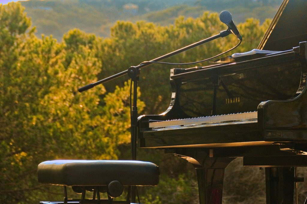 Piano in nature