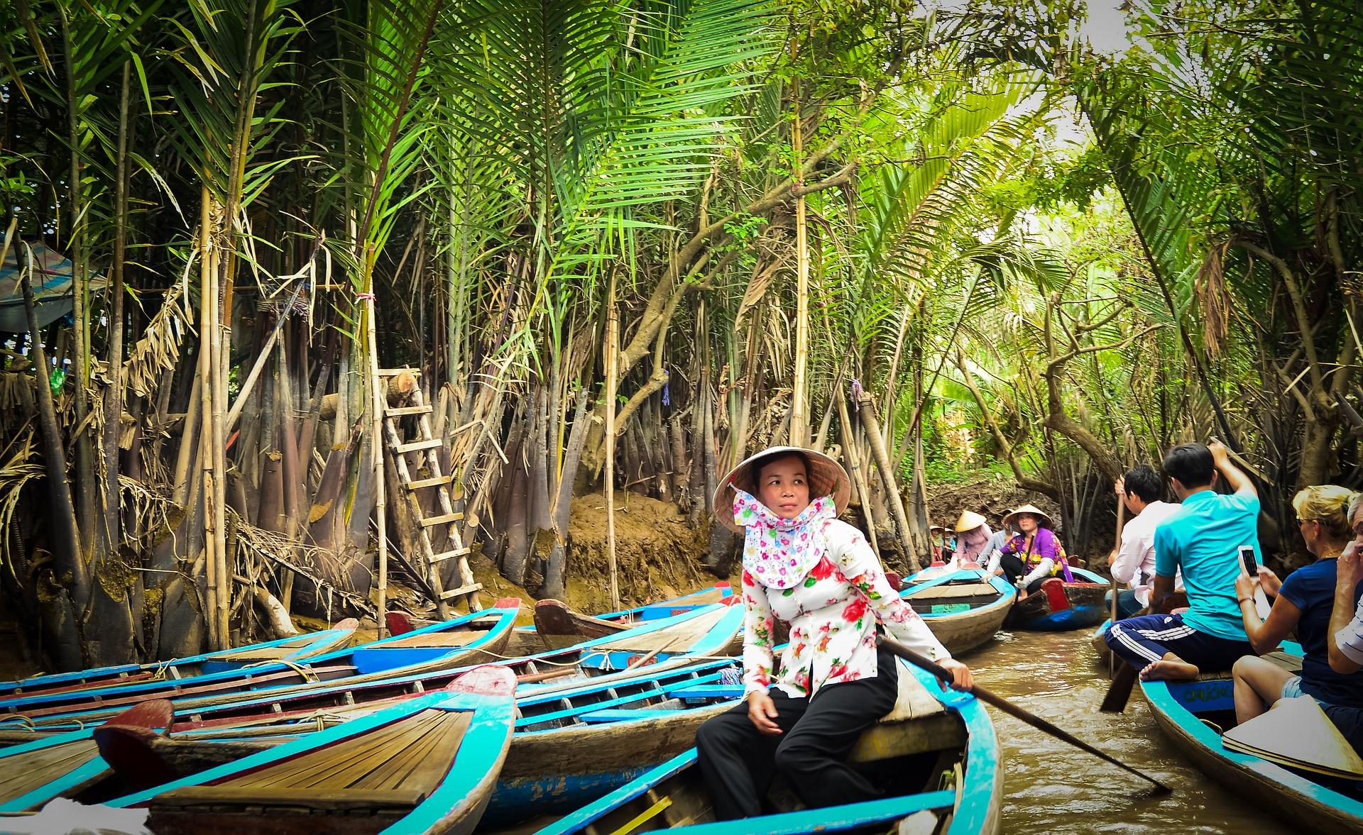 Boat travel in Vietnam