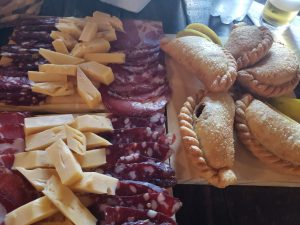Meats and cheeses inside the Pulperias