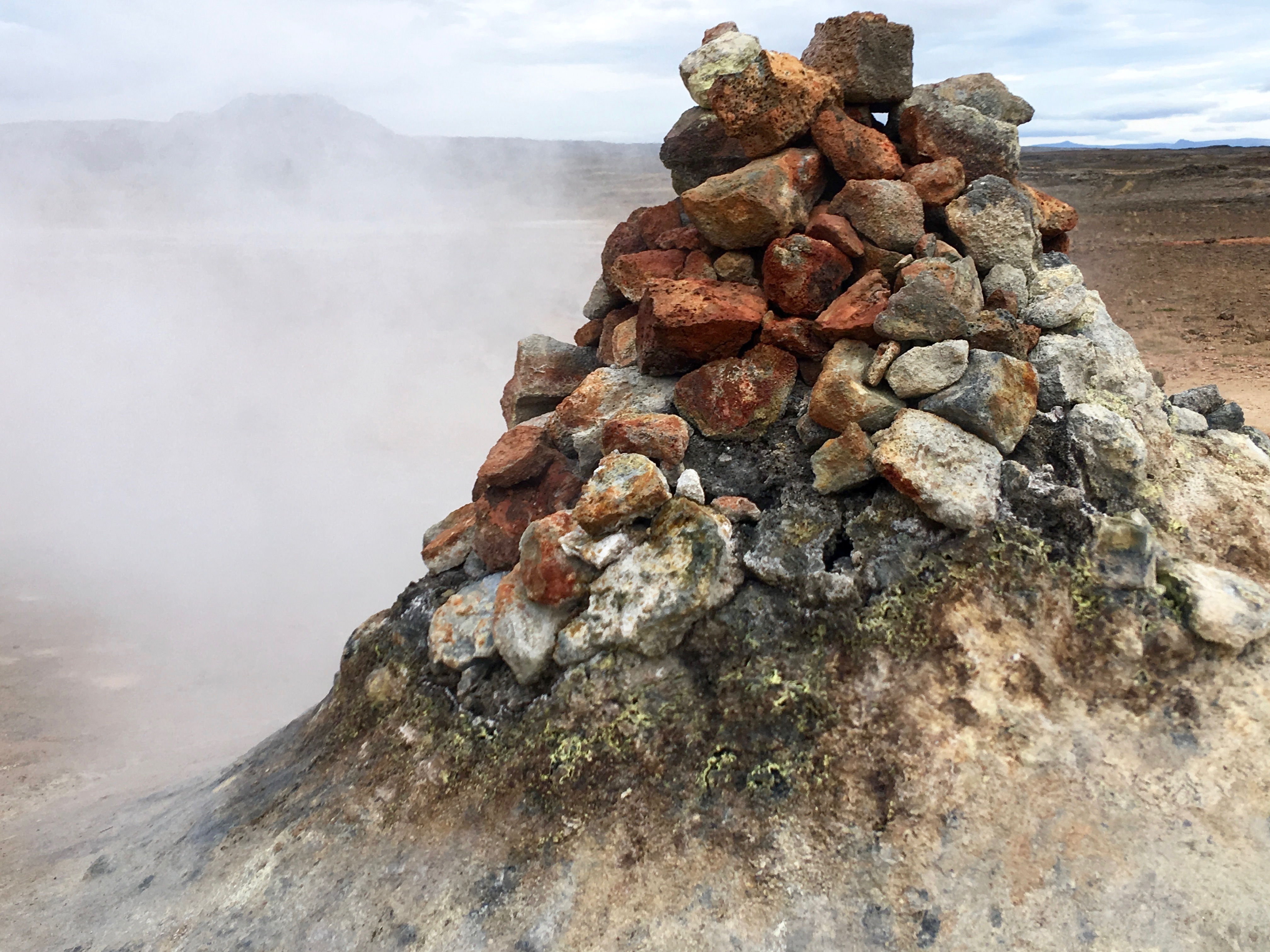 There is sulfur steam coming from this formation at a mud pud. Photo: Tonya Fitzpatrick