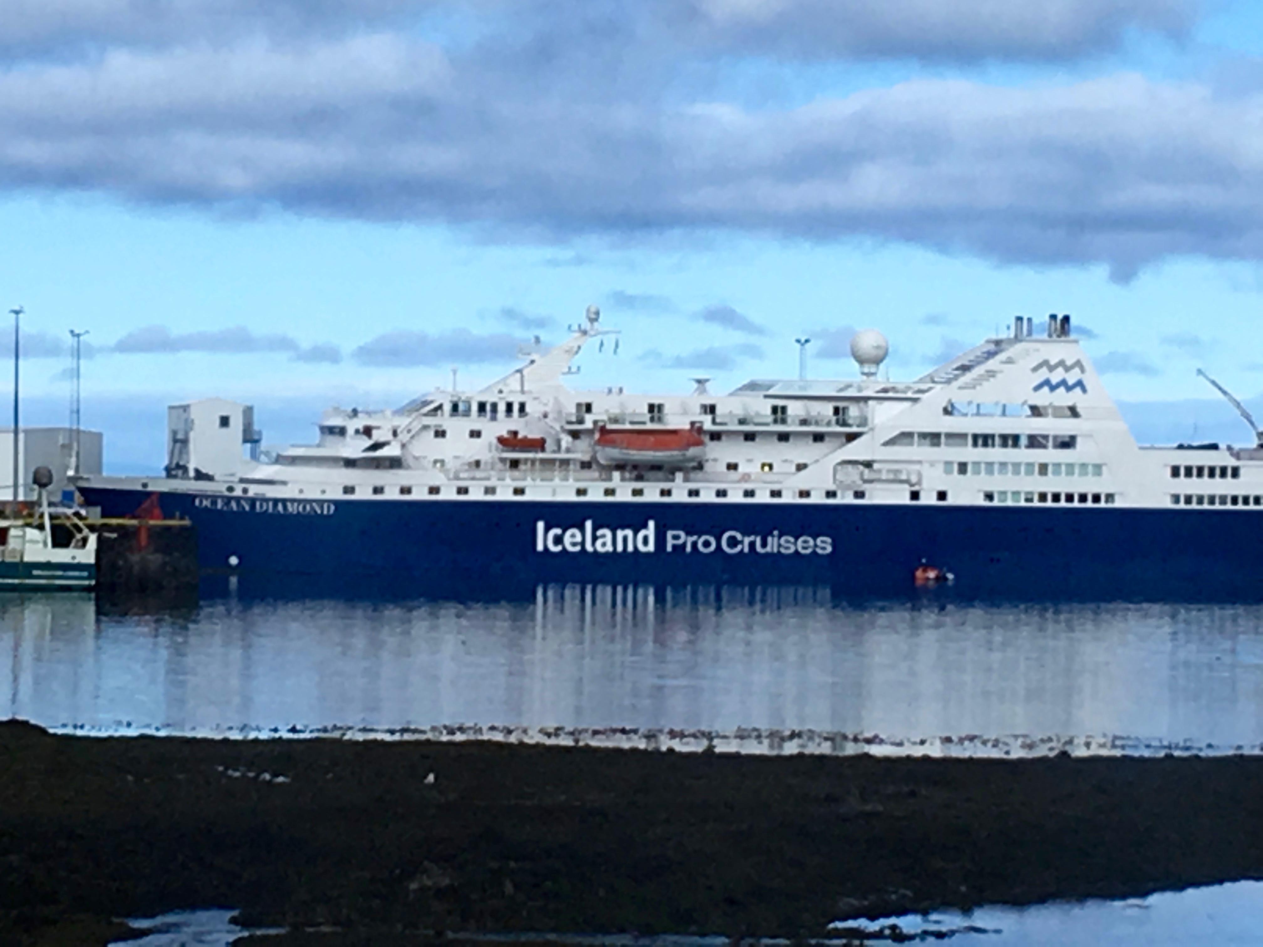 Our ProCruises Ocean Diamond ship. Photo: Tonya Fitzpatrick
