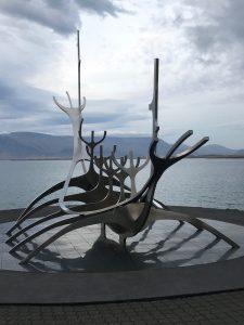 Sun Voyager steel boat sculpture in Reykjavik. Photo by Tonya Fitzpatrick