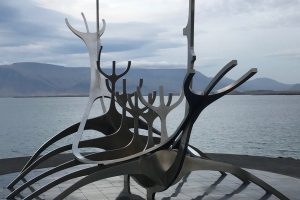 Sun Voyager steel boat sculpture in Reykjavik. Photo by Tonya Fitzpatrick
