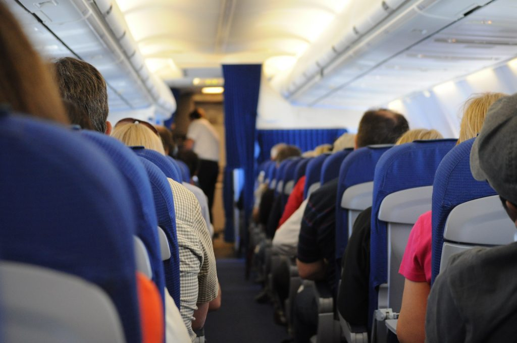 airplane-seats are generally blue