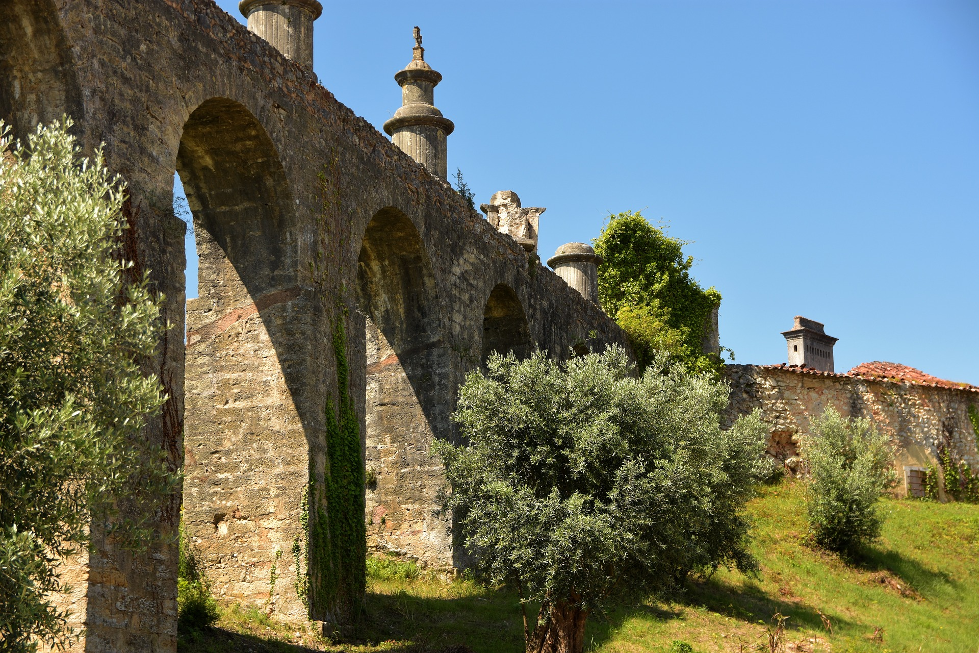 Aqueduct in Tomar, Portugal