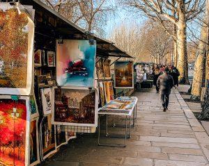 Art stalls by the Seine. Photo: Kellie Paxian