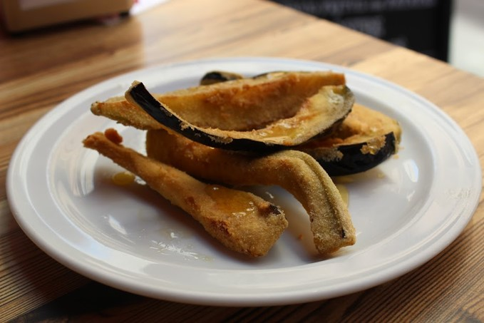 Photo of fried eggplant by David Pope