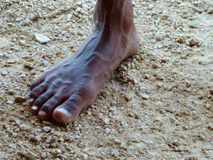 australia ancester foot-