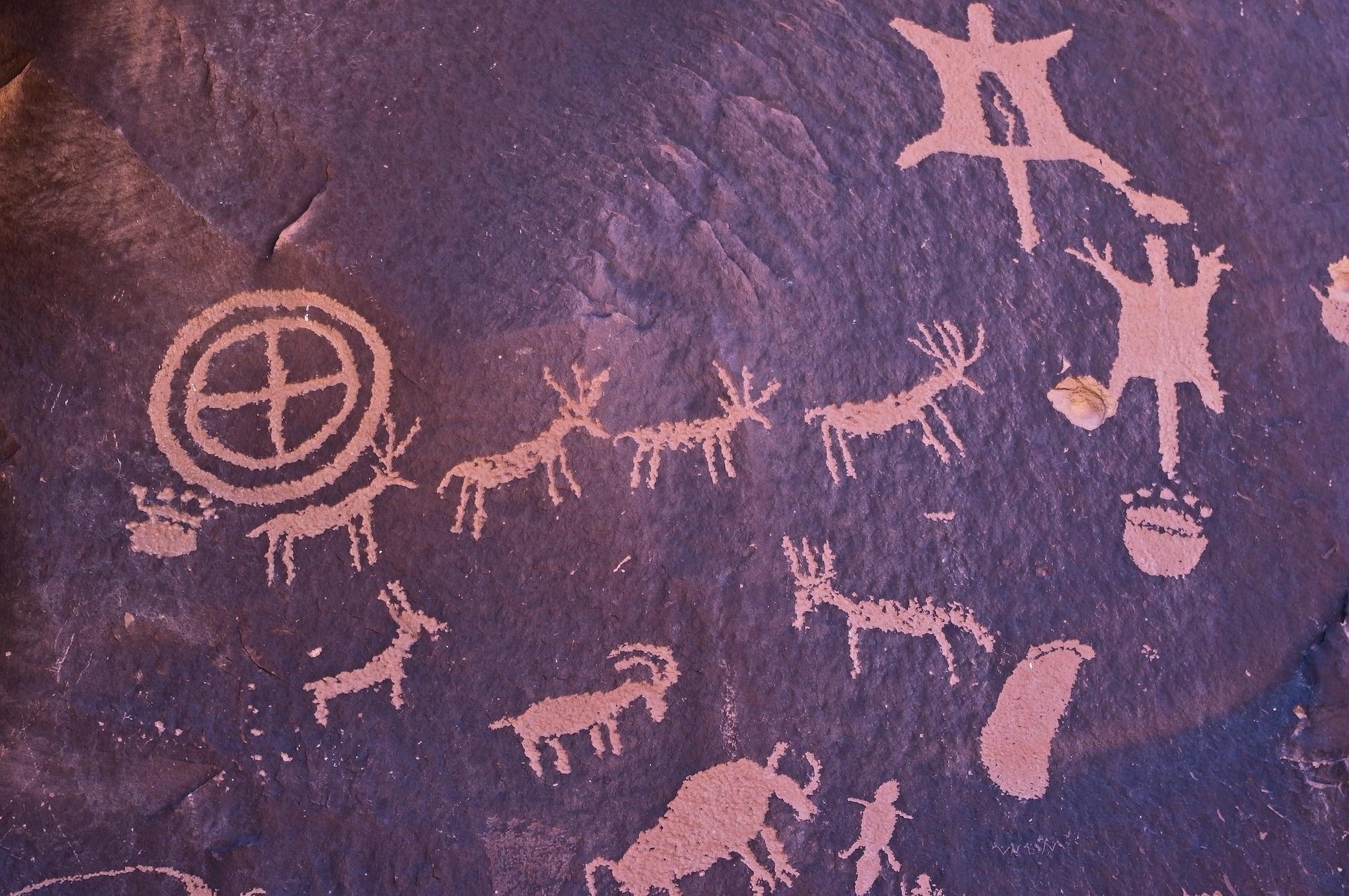 Aboriginal rock drawings