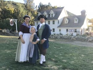 Tousey family dressed in Colonial costumes.
